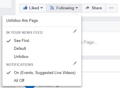 How to like the station page on the desktop version of Facebook.